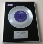 FRANK SINATRA - ALL THE WAY PLATINUM Single Presentation DISC